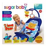 Kualitas Sugar Baby 1St Class Fold Up Infant Seat With Melodies And Soothing Vibrations Kursi Lipat Bayi I Love Bear Sugar Baby