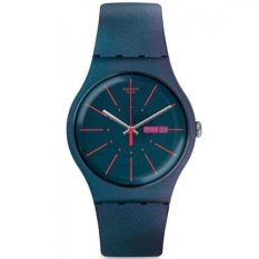 Toko Swatch Jam Tangan Pria Biru Biru Rubber Biru Suon708 Swatch North Sumatra
