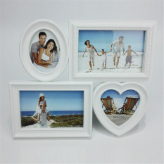Toko Sweet Family Photo Frame With Four Pictures Hanging For Home Decoration And Wall Sticker Simple White Picture Frames Termurah Di Tiongkok