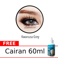 Sweety Kwanusa Grey Softlens Gratis Cairan 60Ml Gratis Lenscase Original