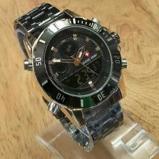 Tips Beli Swiss Army Jam Tangan Pria Dual Time Sa X 9122 Black Stainles Stell
