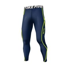 Penawaran Istimewa Takefive 209 Kompresi Pria Pants Leggings Base Layers Sportswear Navy Intl Terbaru