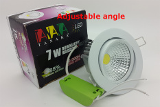 Tanaka Lampu Ceiling Downlight LED COB 7 Watt Adjustable - Cahaya Putih