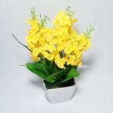 Jual Tanaman Rangkaian Bucket Buket Bunga Pohon Plastik Artificial Artifisial Sintetis Pot Vas Melamin Hiasan Lavender Kuning Universal Murah