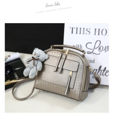 Harga Tas Fashion Stylish Korean Slingbag Gold Yang Murah