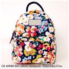 Tas Wanita Ransel Fashion Elvy Small Backpack 6098 - 21 Floral