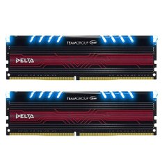 Team Delta BLUE DDR4 8GB (4GB X 2 ) PC 2400 - Biru