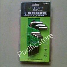 Promo Tekiro Kunci L Set Hex Key Pendek 8 Pcs 2 10 Tekiro Terbaru