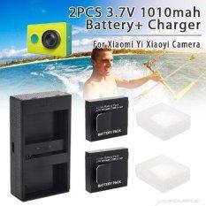 Telesin Batteries w/ Charger Kit for Xiaomi Yi Xiaoyi Sports Action Camera