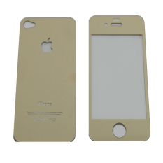 Tempered Glass 2in1 Mirror Glossy For Apple iPhone 4/ Iphone4/ iPhone 4G/ 4S Anti Gores Kaca / Scre