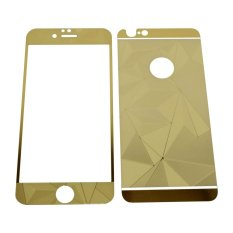 Tempered Glass 3D 2in1 For iPhone 6/ Iphone6/ iPhone 6G/ 6S Ukuran 4.7 Inch Diamond Colour Screen Protection - Gold