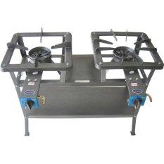 Tenno Gas GSMA-255-TR Kompor Gas Tekanan Tinggi/High Pressure Automatic 2 Tungku Rangka 75 cm