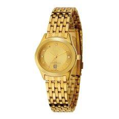 Tetonis Jam Tangan Wanita Strap Stainless Steel Gold Tet9036L Asli