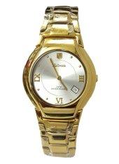 Promo Tetonis T5022L Jam Tangan Wanita Stainless Steel Gold Putih Murah