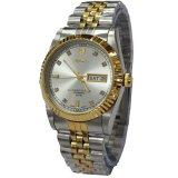 Harga Tetonis T5069Tc Jam Tangan Pria Stainless Steel Silver Gold Asli Tetonis