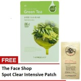 Ulasan The Face Shop Real Nature Mask Sheet Set Of 5 Green Tea Free Face Spot Clear Intensive Patch