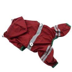 Baru Jas Hujan Baju Anjing Anak Anjing Monolayer Baju Tahan Air dengan Pita Reflektif Anjing Dekorasi