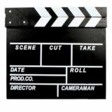 Spek Third Party Clapper Papan Film Director Board Aksesoris Foto Hitam Third Party