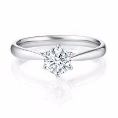 Tiaria Forever Enlarged 0.03 crt Perhiasan Cincin Tunangan Emas Berlian Wanita