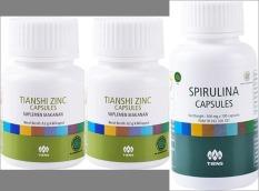 Jual Tiens Penggemuk Badan Paket 2 Zinc 1 Spirullina Online Jawa Barat