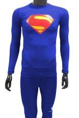 Harga Tiento Baselayer Manset Long Sleeve Benhur Superman Original Biru Termurah