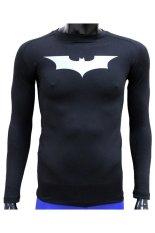 Harga Termurah Tiento Baselayer Manset Long Sleeve Black Batman Darknight Original