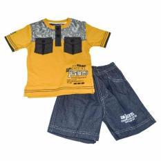 Promo Toko Tobin Setelan Fashion Casual Jeans Kuning