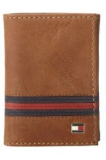 Toko Tommy Hilfiger Men S Yale Trifold Wallet Tan Online Terpercaya
