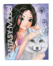 TOP Model TM7888 Create your Fantasy Model colouring book - Biru dongker