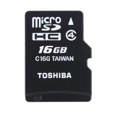 Jual Toshiba 16Gb Micro Sd Class 4 Hitam Branded Original