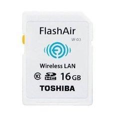 Harga Toshiba Flash Air Wireless Sd Card Class 10 16Gb Sd R016Gr7Al03A Putih New