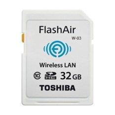 Spesifikasi Toshiba Flash Air Wireless Sd Card Class 10 32Gb Sd R032Gr7Al03A Putih Terbaru