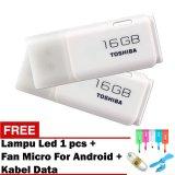 Harga Toshiba Flashdisk Original Hayabusa 16Gb Gratis Lampu Led Usb Fan Micro For Android Kabel Data Charging