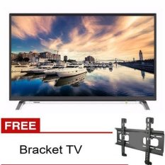 TOSHIBA Smart HD LED TV 32 - 32L5650VJ Free Bracket TV - Hitam - Khusus Jabodetabek