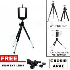 Tripod Mini For Handphone And Camera - Gratis Fish Eye Lens