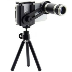 Twin Telezoom 8x For Universal Smartphone up 5.5 inch With Tripod Mini - Silver