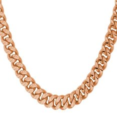 Beli U7 18 Rose Gold Plated Classic Chain Necklace Pink Kredit Tiongkok