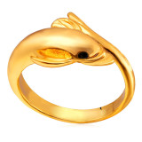 Beli U7 Cute Dolphin Band Ring 18 K Emas Plated Emas Online