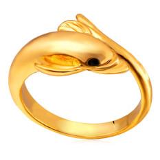 Harga U7 Cute Dolphin Band Ring 18 K Emas Plated Emas Original
