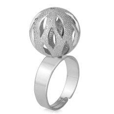 U7 Indah Bola Cincin Dapat Disesuaikan Platinum Plated Fashion Wanita Pesta Perhiasan (Platinum)