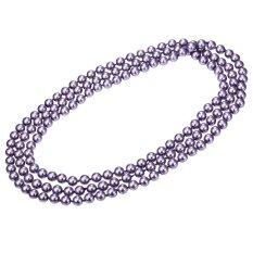 U7 Pearl Perhiasan Manik-manik Panjang Rantai Kalung untuk Wanita Berkualitas Tinggi Fashion Kalung Mutiara Aksesoris (Ungu)