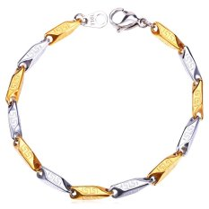 Beli U7 Two Tone Vintage G Chain Bracelet Stainless Steel Gold Plated Seken