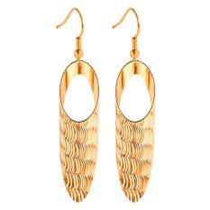 U7 Wave Drop Earrings 18 K Emas Plated (Emas)