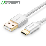 Jual Beli Online Ugreen 25M Usb Type C Data Sync And Charger Cable Aluminium Case Braid Design Silver Intl