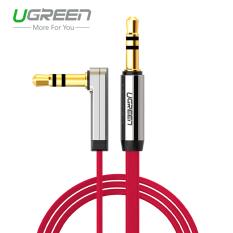 Promo Ugreen 3 5Mm Stereo Audio Tambahan Kabel 90 Derajat Sudut Siku 2 M Merah Internasional Akhir Tahun