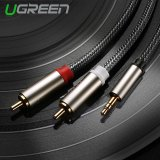 Promo Ugreen 3 5Mm For 2 Hi Fi Audio Rca Dari Anyaman Nilon Kabel Aux Compatible With Mp3 4 Handphone Ipod 1 5 M Ugreen
