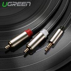 Harga Ugreen 3 5Mm For 2 Rca Kabel Audio Hi Fi Nilon Jeran Kepang Kabel Aux Compatible With Mp3 4 Handphone Ipod 5 M Original