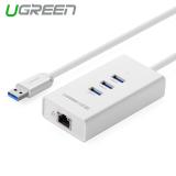 Katalog Ugreen 3 Port Usb 3 Hub10 100 Mbps Untuk Rj45 Kartu Ethernet Lan Jaringan Kabel Adaptor Internasional Terbaru