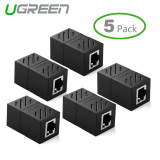 Review Terbaik Ugreen 5 Pack In Line Coupler Cat7 Cat6 Cat5E Kabel Ethernet Extender Adapter Hitam