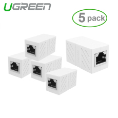 5 Pack IN-LINE Skrup Cat7/Cat6/Cat5e Ethernet Extender Adaptor